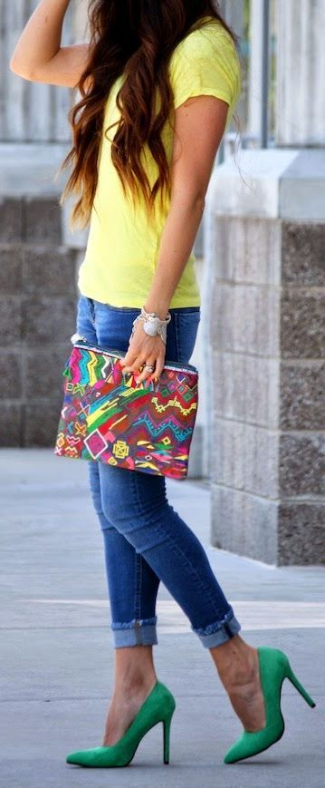 **- Without the bag. Asos Multi Coloured Abstract Print Flat Pouch