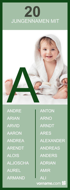 Du bist auf der Suche nach einem schönen Jungennamen mit dem Anfangsbuchstaben A? Bei uns findest Du jede Menge Inspiration sowie die Herkunft und Bedeutung der Babynamen!