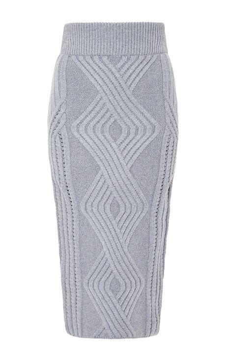 Шерстяная юбка темно-серого цвета, Cushnie et Ochs для предзаказа на Moda Operandi