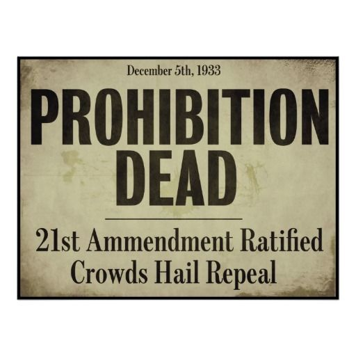 Prohibition Dead, Vintage Newspaper Front Page Poster