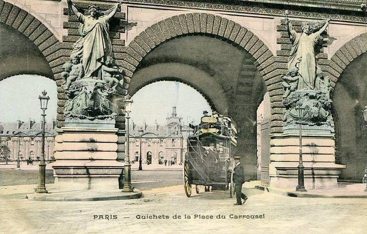 place du Carrousel - Paris 1er Les guichets de la place du Carrousel, vers 1900.