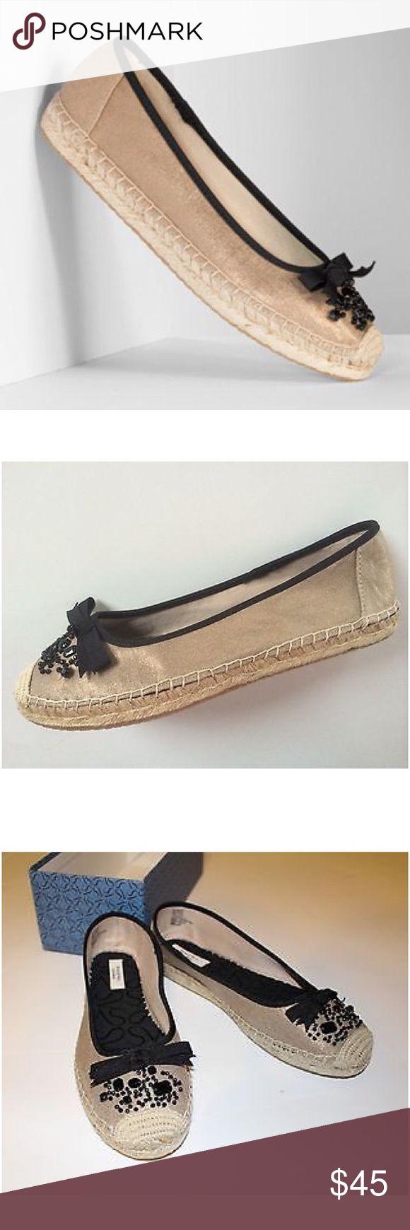Vera Wang Bronze Jeweled Espadrille Shoes Vera Wang bronze iridescent w/black jeweled stone espadrille shoes will have you looking fab! Vera Wang Shoes Espadrilles
