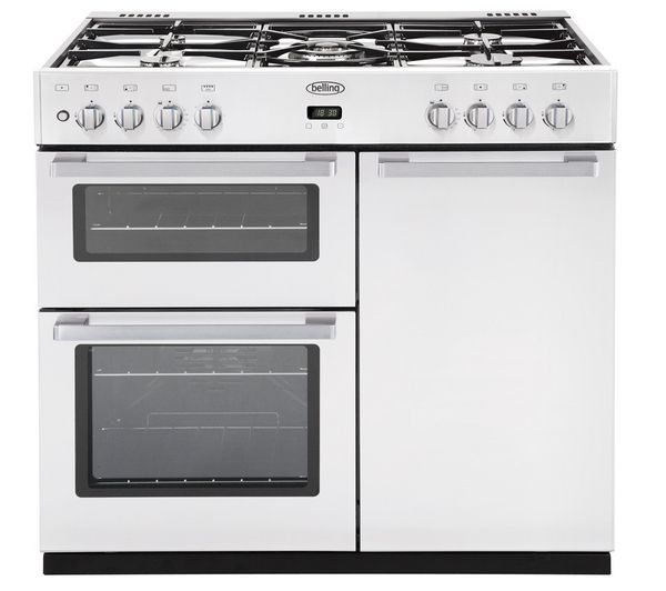Buy BELLING DB4 90DFT Dual Fuel Range Cooker - White | Free Delivery | Currys £850