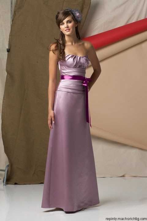 Scoop satin bridesmaid dress with natural waist...maybe minus the weird ribbon?