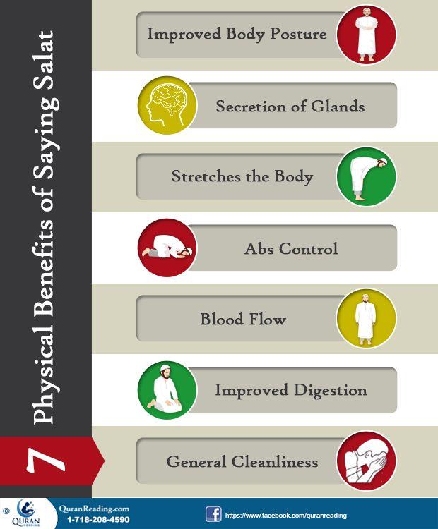 7 Physical Benefits of Saying Salat #Salah #Islam #Benefits