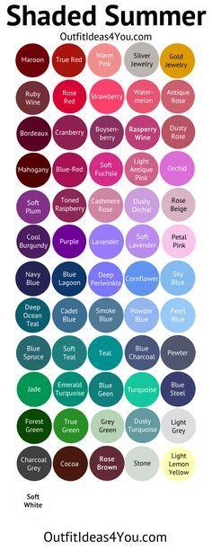 Shaded Summer Color Palette (soft summer deep)