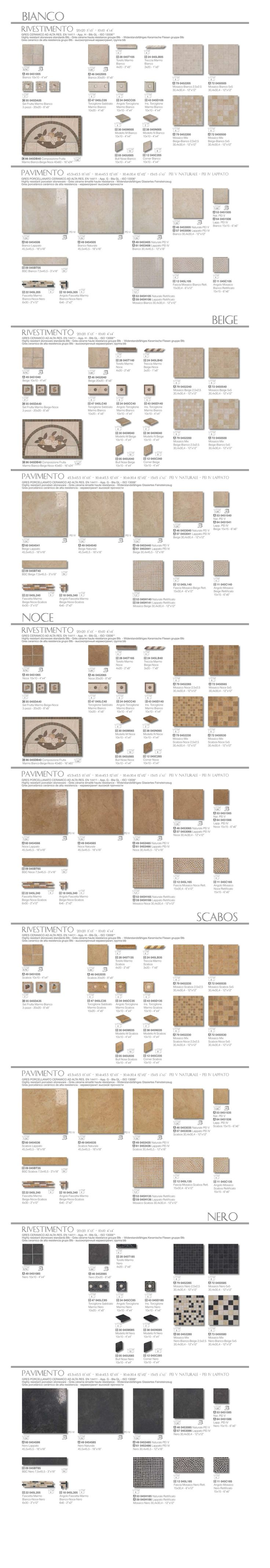 Elios Ceramica - PIETRE DEL SOLE - Colori