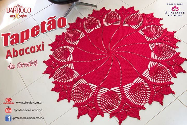 Tapete de Crochê Redondo ( tapetão ) vamos fazer?  https://youtu.be/tEzkebiOHyg #crochet #tapete #professorasimone #semprecirculo #barrocoMaxColor