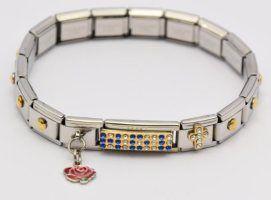 Silver Diamante Cross Bracelet.