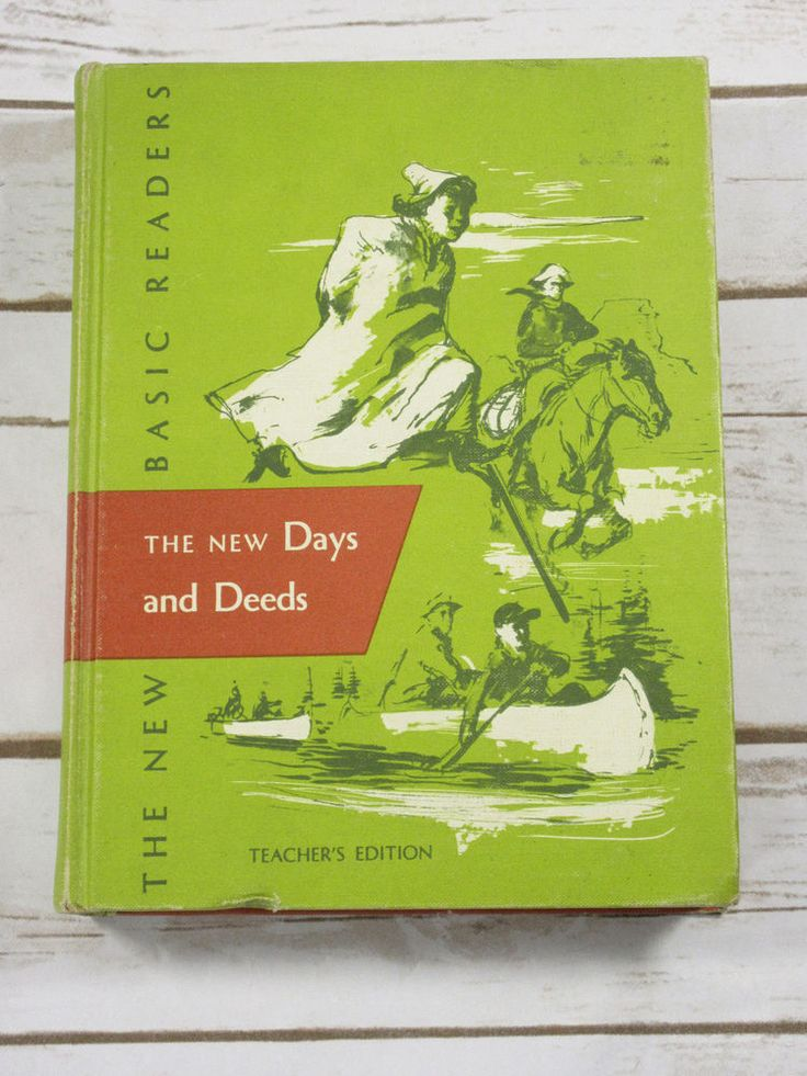 1955 The New Basic Readers New Days and Deeds #Teachers Edition #Book