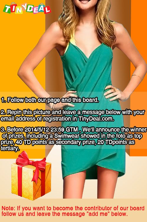 Follow us and participate our activity to win Swimwear for summer! #tinydeal #tinydealfashion link of big prize: http://www.tinydeal.com/purity-special-cover-uppareosarong-one-piece-for-women-px28102-p-87137.html