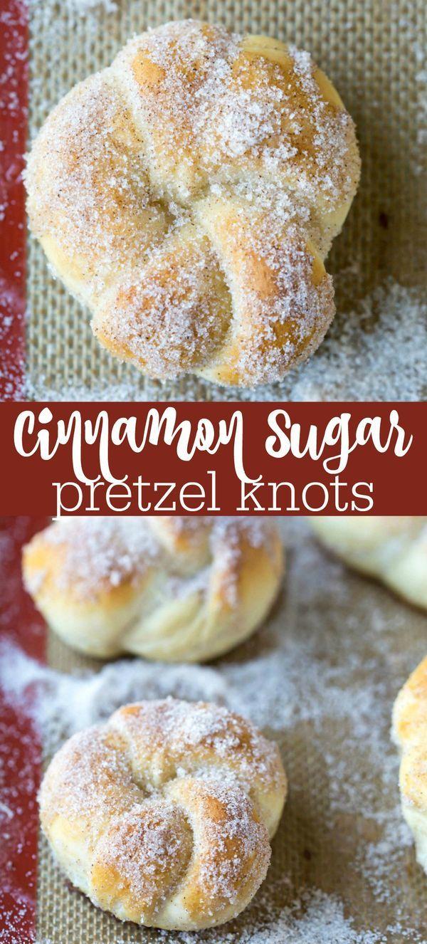 Cinnamon Sugar Pretzel Knots Recipe - easy homemade copycat pretzels!