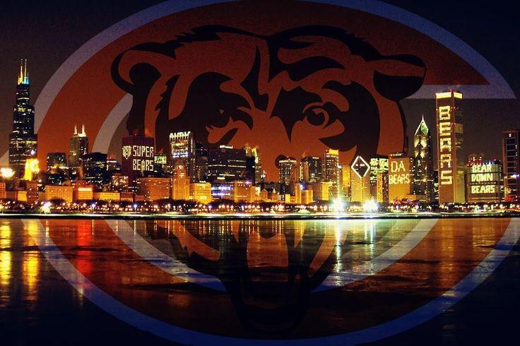 Chicago skyline...Da Bears | Chicago Sports | Sports news update, Chicago skyline, Chicago