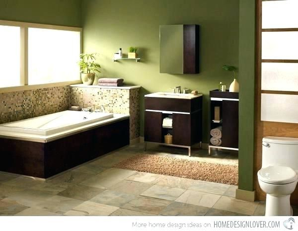 Olive Green Bathroom Decor Ideas