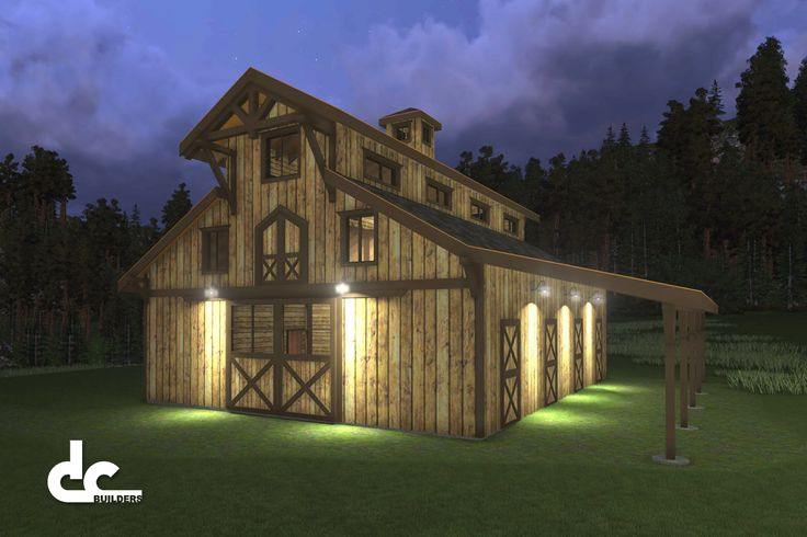 Horse barns with living quarters horse barn designs for Horse stable plans with living quarters