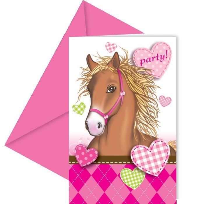cartes d'invitation anniversaire gratuites a imprimer de chevaux | Carte invitation anniversaire ...
