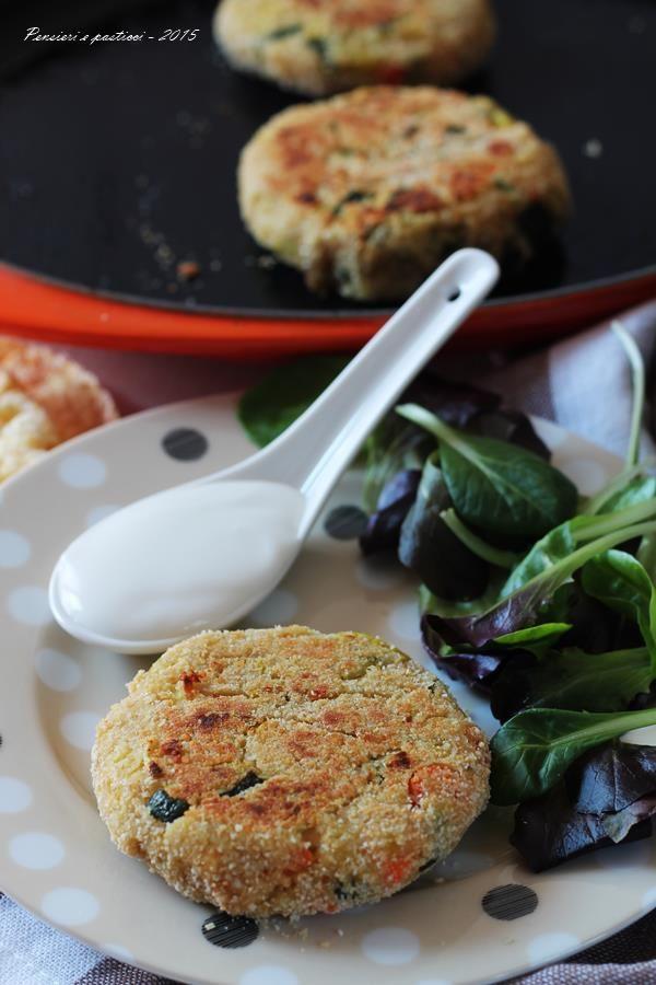 Hamburger vegetariani alla piastra | pensieri e pasticci