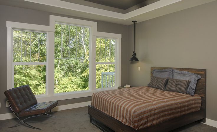 Cedar Rapids show home featuring Windsor Next Dimension vinyl windows.