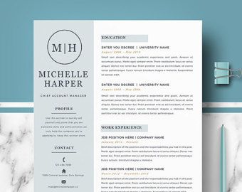 Creative Resume Template CV Template Cover by TheCreativeResume