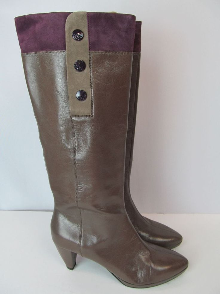 miss sixty vero cuoio 39 8 8 5 brown leather color block