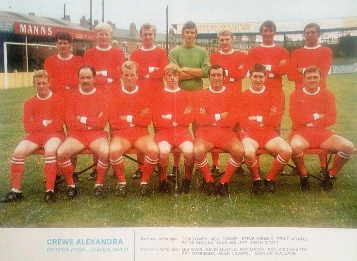 Crewe Alexandra team group in 1970-71.
