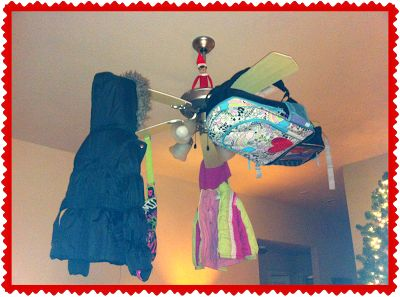 jordan white and blue 11 Elf on the Shelf  funny things with kids backpacks