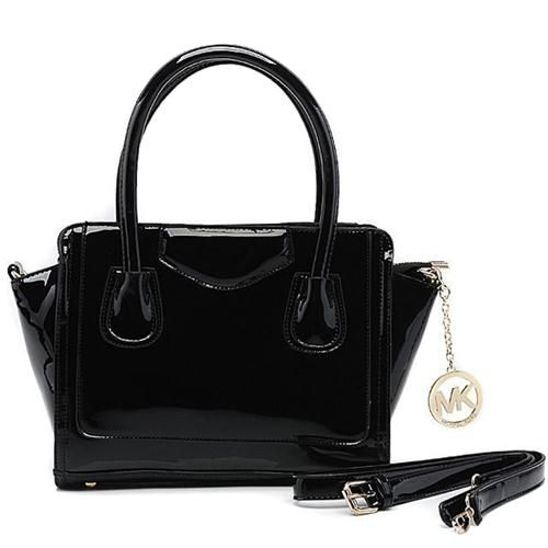 Michael Kors Smooth Leather Large Black Satchels $90.99