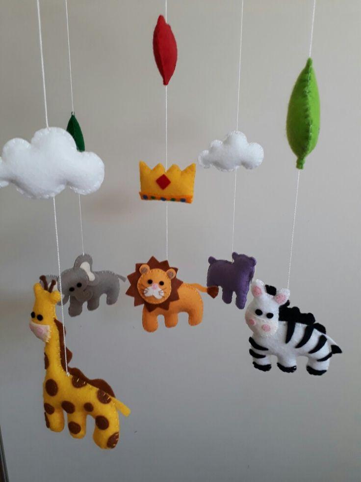 Safari animal baby mobile