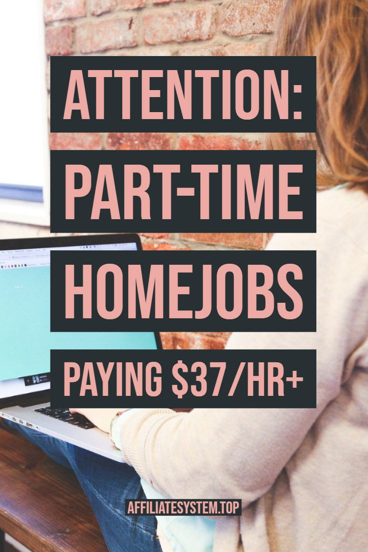 ATTENTION: Part-time homejobs paying $37/hr+