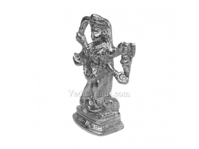 """Parad Maa Kali - 88 gms buy online from India. Dimensions: 2.25 inches (H) x 1.5 inches (W) x 0.8 inch (thickness) Weight: 88 gms As per the Brahma Purana, any person, male or female and belonging to any """"Varna""""- Brahmin, Kshatriya, Vaishya or Shudra, who worships Parad idols daily is blessed with worldly pleasures and lastly achieve supreme salvation (Moksha). The Parad Idol gives to worshiper a life full of beauty, honor, fame, happiness, knowledge, and wisdom."""