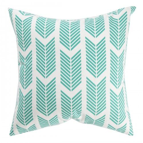 Caitlin Wilson Textiles: TEAL ARROWS PILLOW