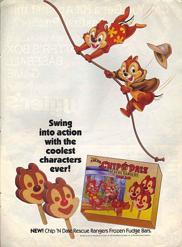 Chip 'N Dale Rescue Rangers Frozen Fudge Bars | 19 Cartoon-Themed Foods And Snacks From The '90s You Might Not Remember