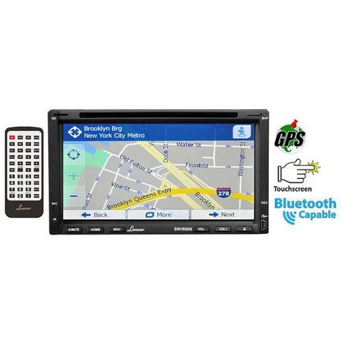 6.95'' Double-DIN Touchscreen Video DVD/MP4/MP3/CD Player With Hands-Free Bluetooth, GPS w/USA/Canada/Mexico Maps, USB/SD, Aux-In