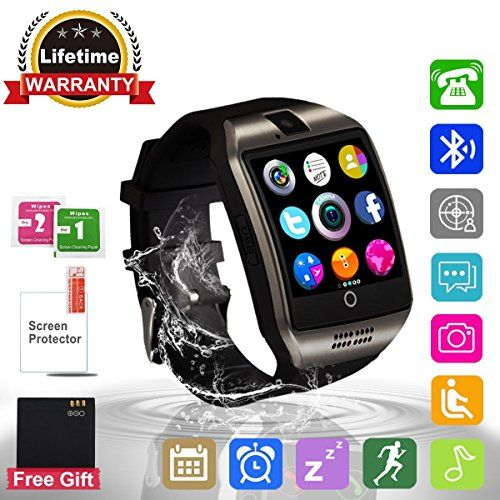 Smart Watch Bluetooth Smartwatch with Camera TouchScreen SIM Card Slot, Waterproof Phones Smart Wrist Watch Sports Fitness Tracker Compatible with iPhone Android Samsung Huawei Sony for Kids Men Women #Smart #Watch #Bluetooth #Smartwatch #with #Camera #TouchScreen #Card #Slot, #Waterproof #Phones #Wrist #Sports #Fitness #Tracker #Compatible #iPhone #Android #Samsung #Huawei #Sony #Kids #Women