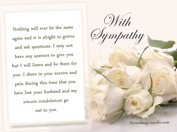 Sympathy Messages for Loss of Husband – Wordings and Messages | Sympathy  messages for loss, Sympathy messages, Condolence messages