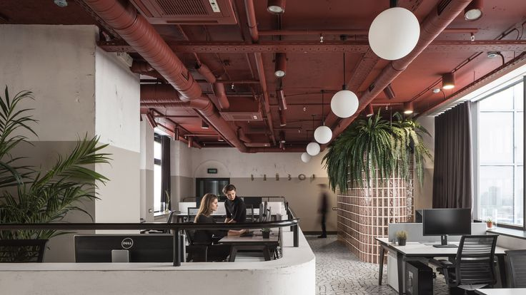 Vizor office by Studio11 | Studio11 reinterprets Soviet-era architecture for gaming company offices in Minsk