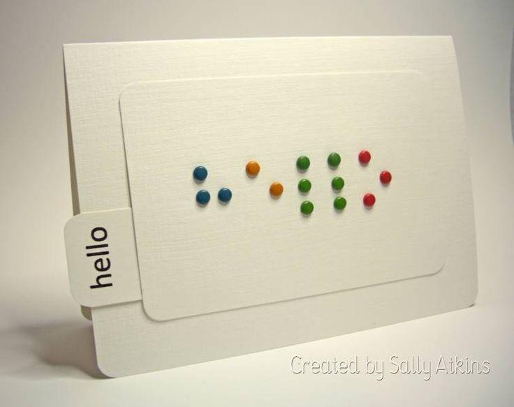 Braille Brads, Adaptacion de tarjetas a Braille, tipografía hecha en Braille