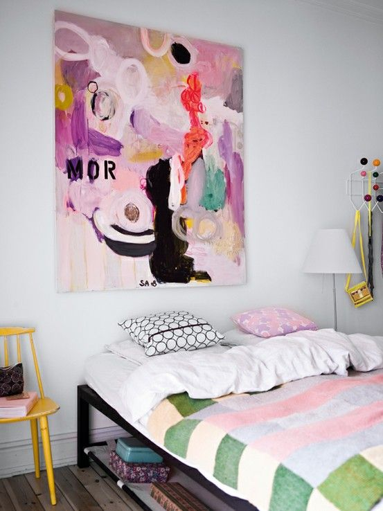 ...: Color, Bedrooms Design, Abstract Art, Interiors Design, Apartment, Painting, Big Art, Bedrooms Decor, Design Home