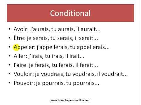conditional in french