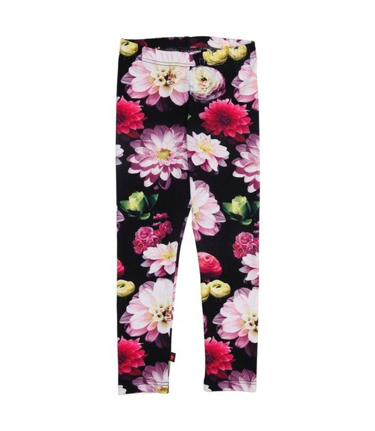 Molo Niki Black Flowering Leggings