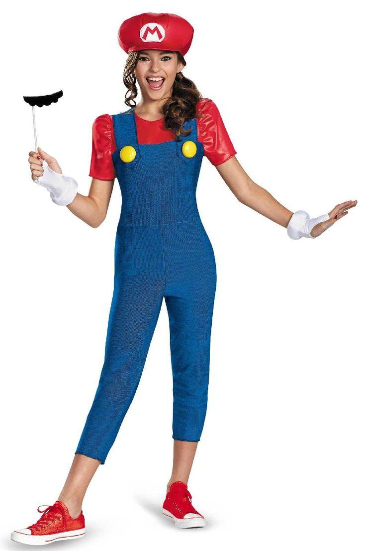 super mario brothers tween mario girl costume