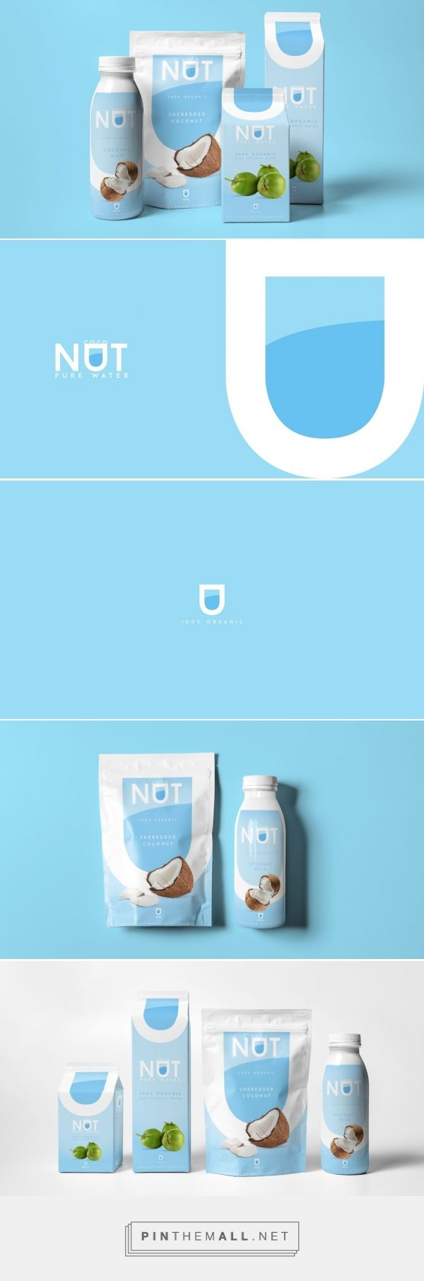 Coconut Pure Water Concept Packaging Design by Agência BUD (Brazil) - http://www.packagingoftheworld.com/2016/05/coconut-pure-water-concept.html