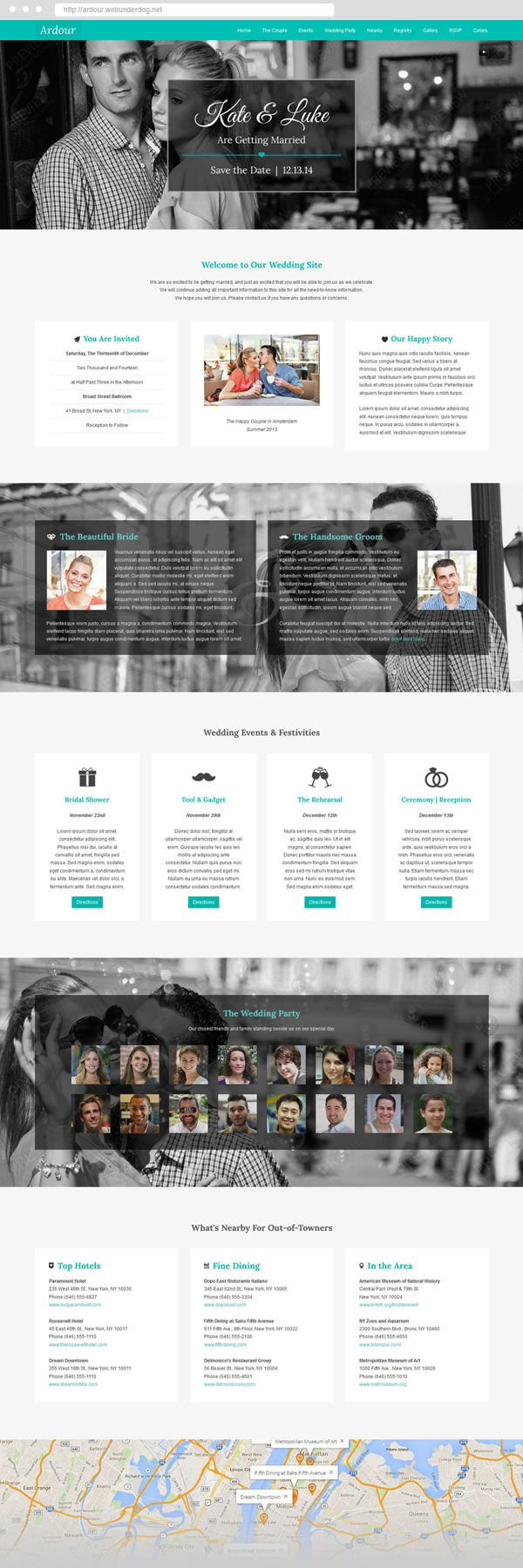 Ardour One Page #Joomla 3 #Wedding #Theme by webunderdog. #webdesign #template #onepage #landingpage #creative #inspiration #marriage #engagement #rsvp #invitiation