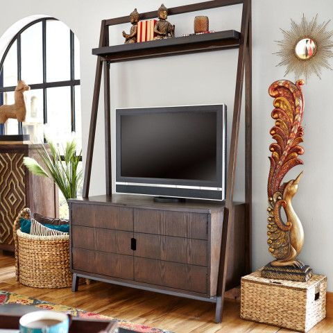 Morgan Tall TV Stand - Tuscan Brown