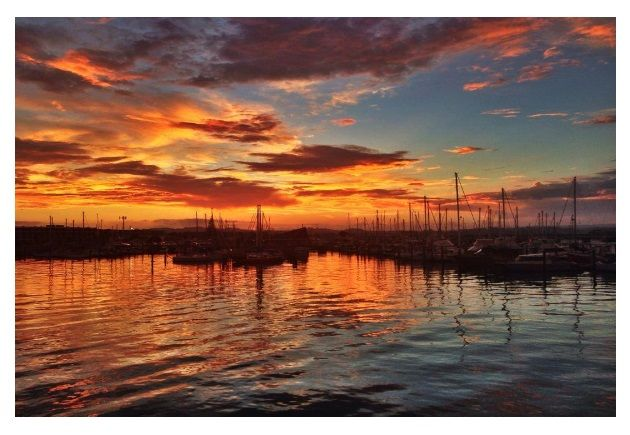 Twilight view from Mexi Mama Restaurant, Port Ahurriri, Napier.