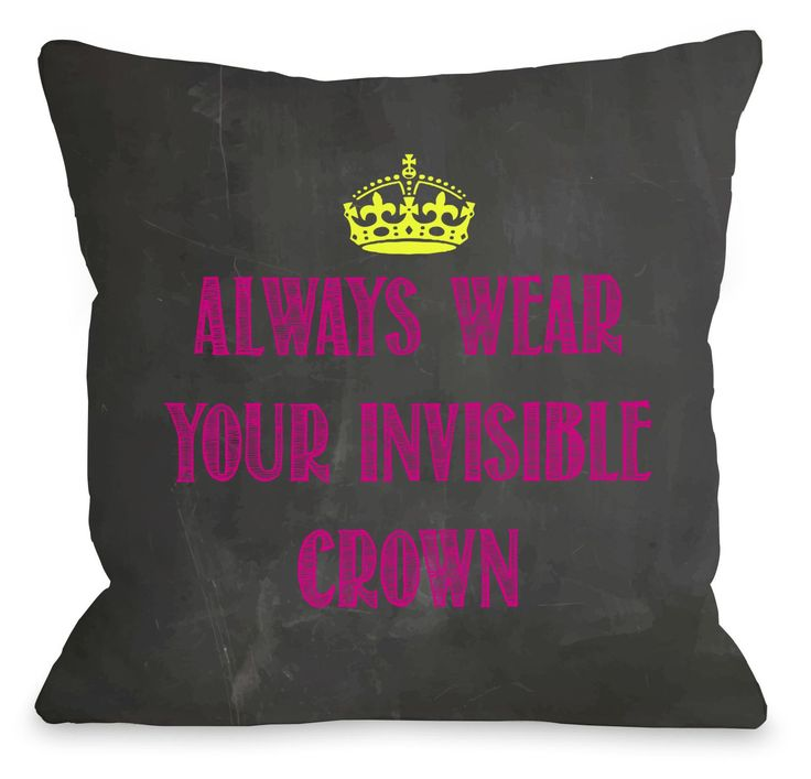 One Bella Casa Invisible Crown Chalkboard Throw Pillow & Reviews | Wayfair