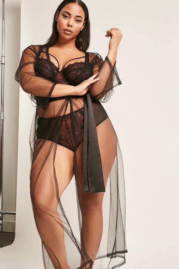 3b28ebd94e167 FOREVER 21+ Plus Size Gabi Fresh x Playful Promises Sheer Robe ...