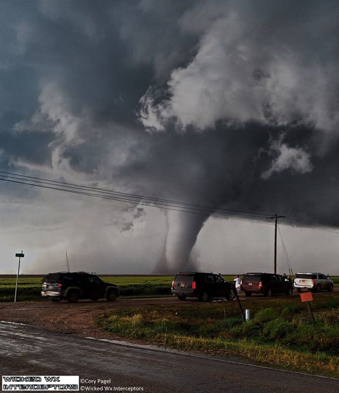 Chaser Convergence On The Dodge City Stovepipe Tornado