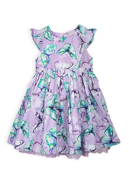 Pumpkin Patch - dresses - watercolour floral dress - S4TG80011 - pastel lilac - 12-18m to 6 #DearPumpkinPatch  my 4 year old chose this because she loves purple and butterflies :)