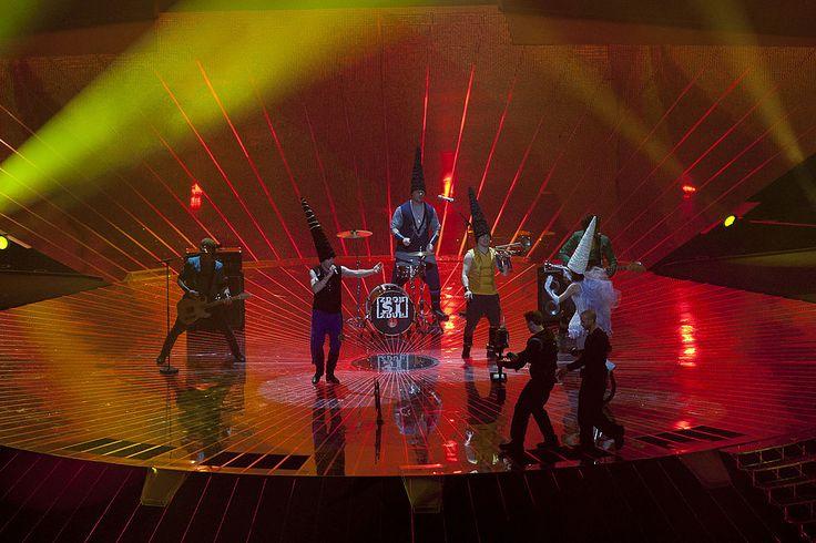 Zdob și Zdub performing at the 2011 Eurovision Song Contest. ◆Moldova - Wikipedia http://en.wikipedia.org/wiki/Moldova #Moldova ◆Zdob și Zdub - Wikipedia http://en.wikipedia.org/wiki/Zdob_%C8%99i_Zdub #Zdob_si_Zdub